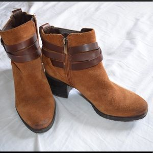 Sam Edelman brown heeled ankle boots booties 8.5